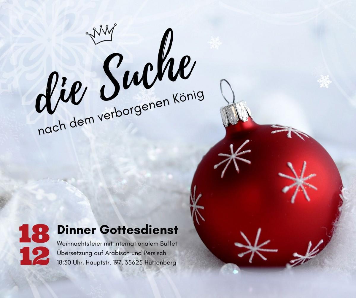 Weihnachts-Dinner Gottesdienst 18.12.2019